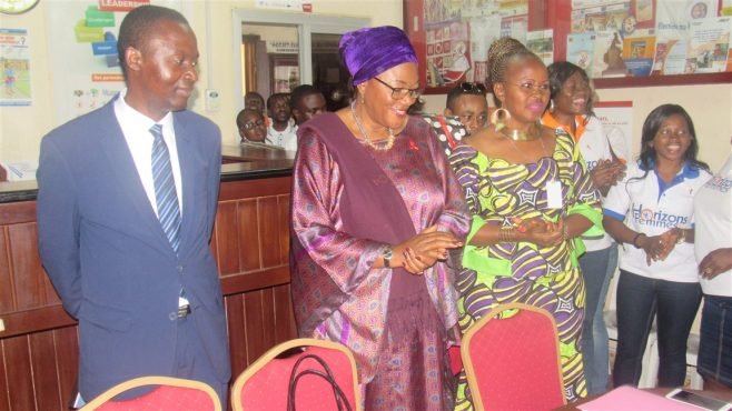 Visite Dr. Claire MULANGA à Horizons Femmes