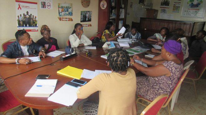 Réunion mise au point projet renforecement du système de dispensation des ARV