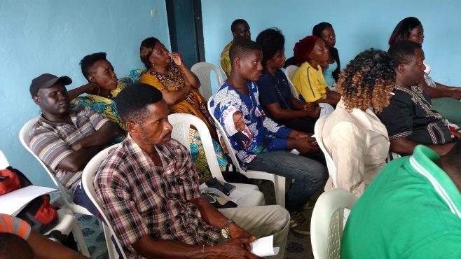 Les participants de l'atelier