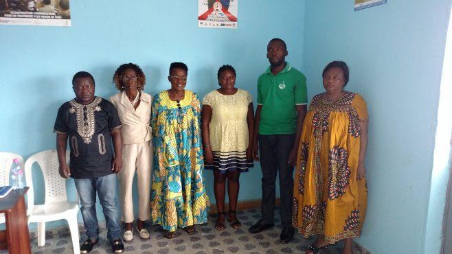 Les membres du bureau régional  de la CSCC-Santé du Sud